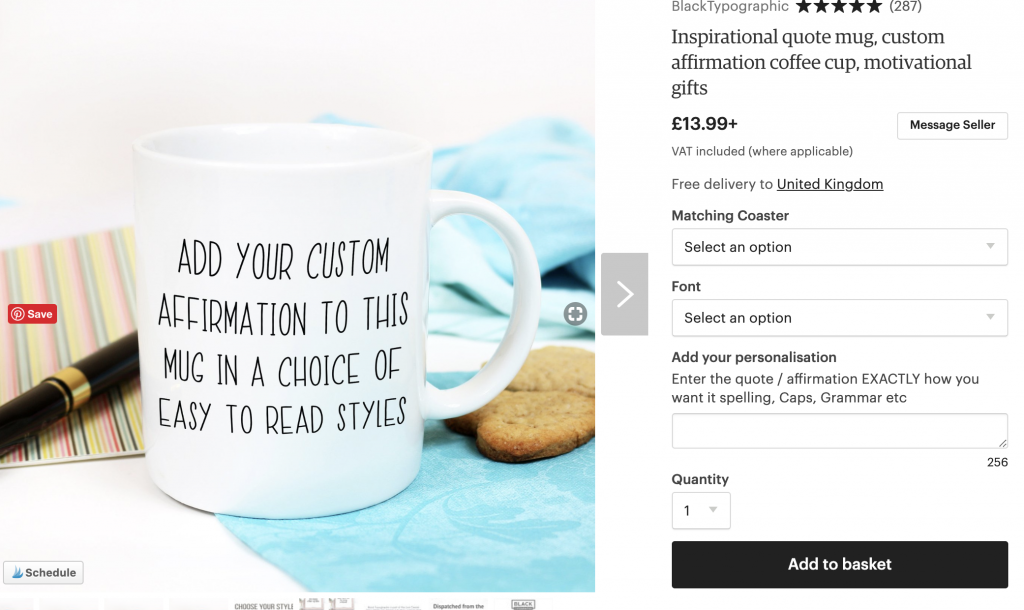 Ordering your inspirational mug is easy, the steps for customising your mug are listed here