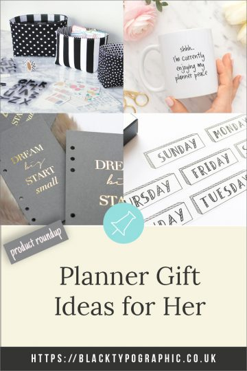 Ideas for Planner Gifts from Etsy. Check out this gift guide to find amazing products to for any planner addict. #planners #giftguide #products