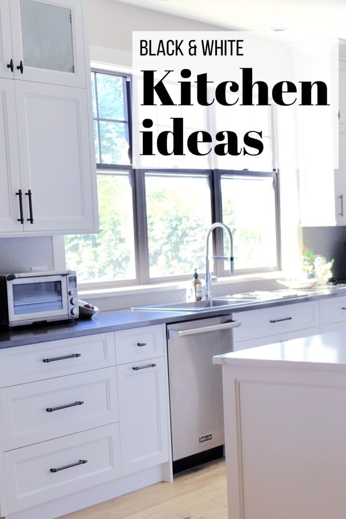 checkout this blog post from Black Typographic for black and white kitchen ideas, grab your kitchen decor inspiration and over 40 free printable art while you're there. #printables #art #kitchen #decor