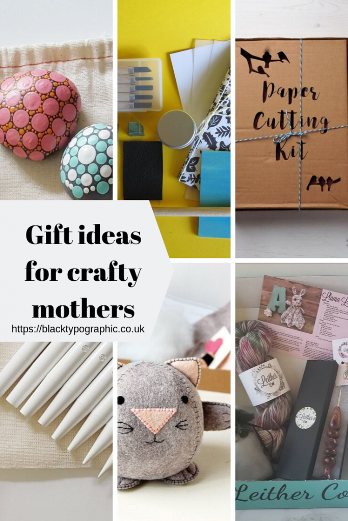 If you need a gift for your crafty mom then this blog post from Black Typographic might be the answer that you're looking for. #gifts #giftideas #giftsformom